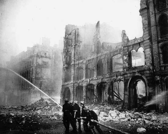 Zniszczony Londyn