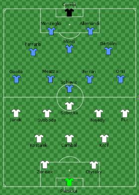 Składy Włoch i Czechosłowacji w finale