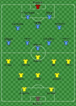 Skład Urugwaju i Brazylii w finale